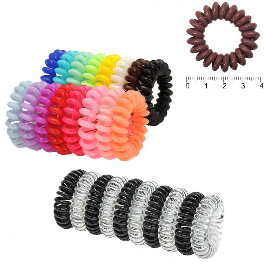 Резинка-пружинка для волос, диаметр 4 см