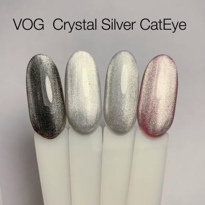 Гель-лак VOG Crystal Silver Cat Eye, 12 ml