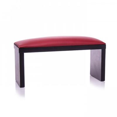 Подлокотник, подставка под руки для маникюра на черных ножках, красный