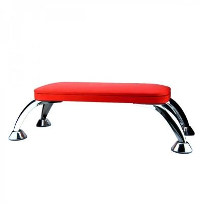 Подлокотник, подставка под руки для маникюра на хромированных ножках, красный