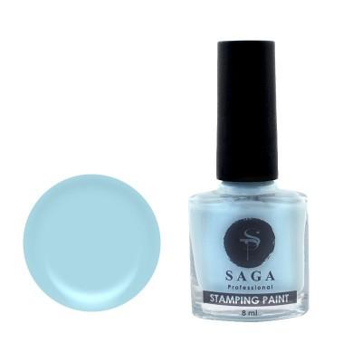 Лак для стемпинга SAGA, небесно-голубой, 10 мл
