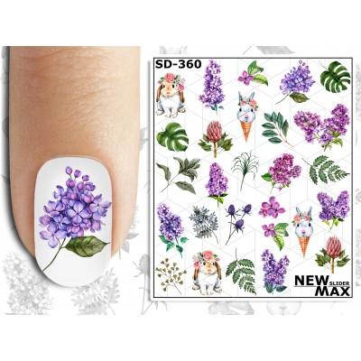 SD-360  Слайдер дизайн NEW MAX цветы