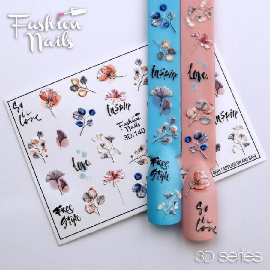 3d-140 Слайдер дизайн Fashion квіти