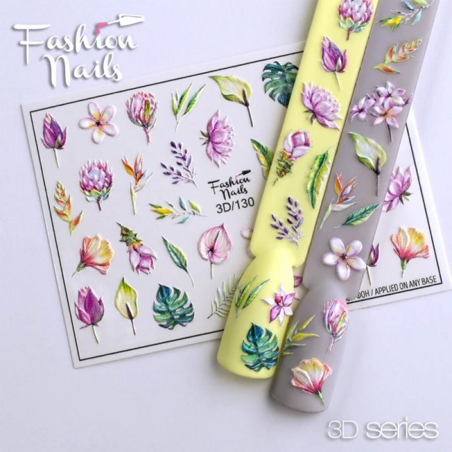 3D-130 Слайдер дизайн Fashion цветы