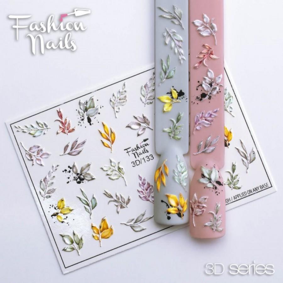 3D-133 Слайдер дизайн Fashion листья