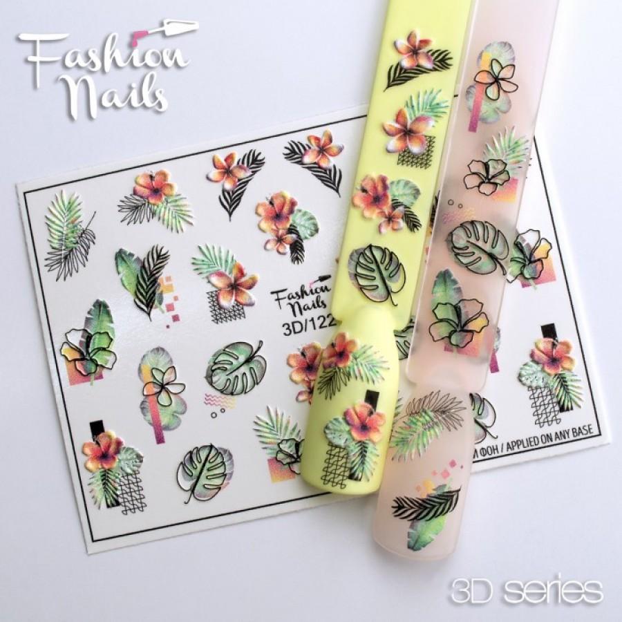 3D-122 Слайдер дизайн Fashion листья