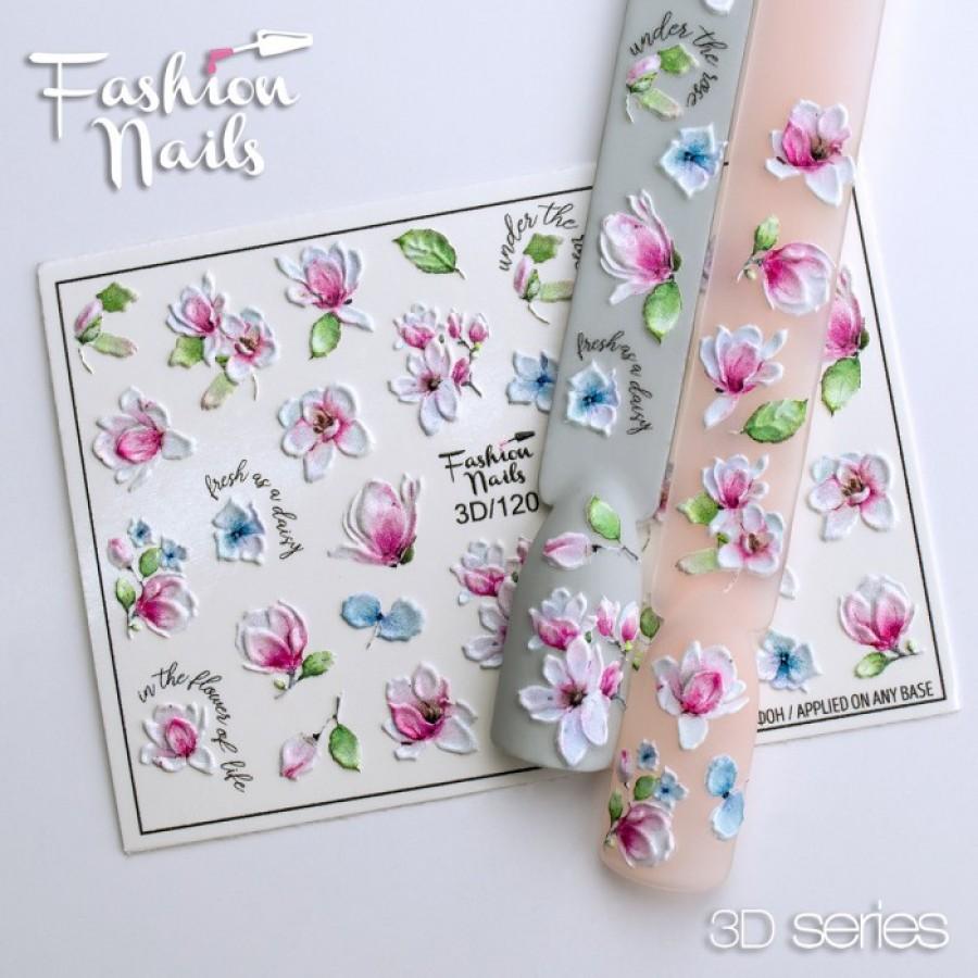 3D-120 Слайдер дизайн Fashion цветы
