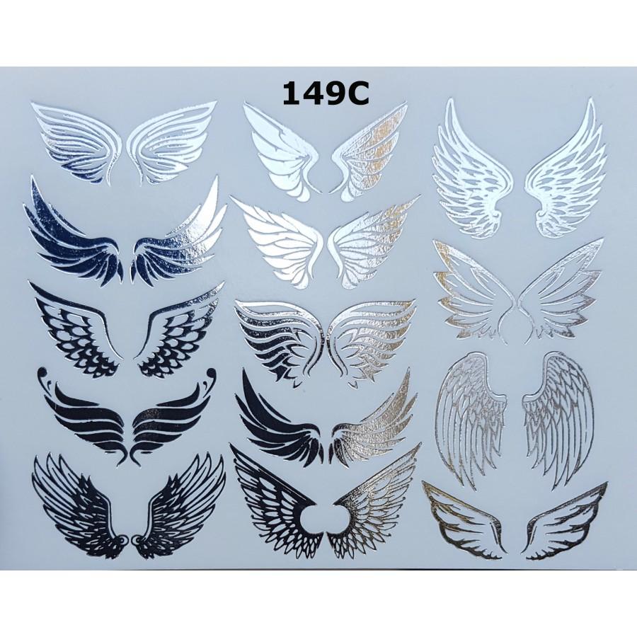 149С Фольгированный слайдер дизайн NEW MAX крылья (серебро)