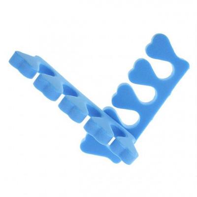 Разделитель (растопырка) для пальцев ног при педикюре, синий