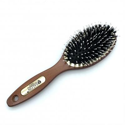 Масажна щітка для волосся SALON Professional 7695clg, дерево/щетина