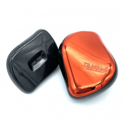 Расческа для волос Tangle Tezer с крышкой, металлик