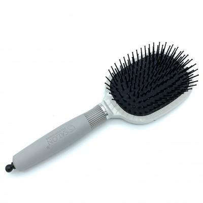 Масажна щітка для волосся SALON Professional, квадратна, сіра