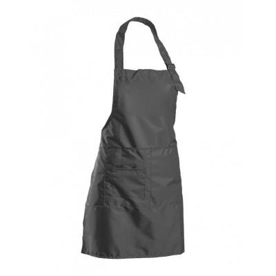 Водонепроницаемый фартук с карманами и регулировкой, черный, 70х60 см