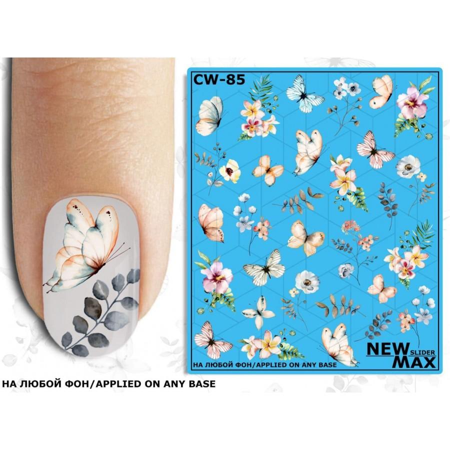 CW-85 Слайдер-дизайн NEW MAX бабочки, цветы