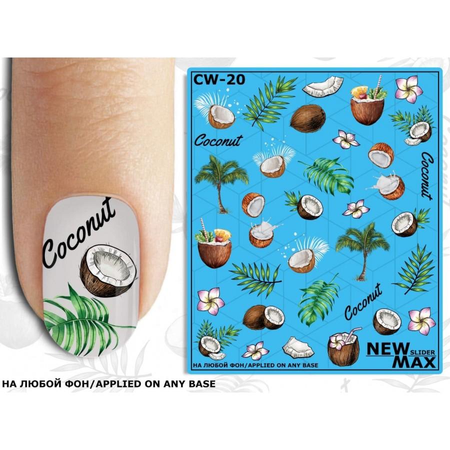 CW-20 Слайдер-дизайн NEW MAX кокос, пальмы