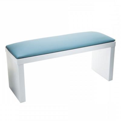 Подлокотник, подставка под руки для маникюра на белых ножках, голубой