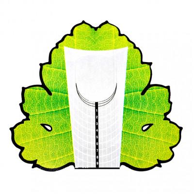 """Форма для наращивания ногтей """"Зеленый лист"""", 10 шт"""