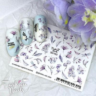 3D-153 Слайдер дизайн Fashion, цветы, бабочки