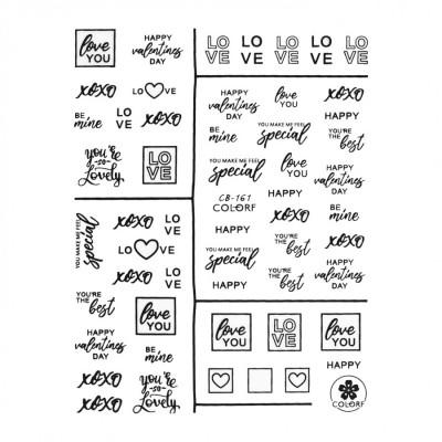 Гибкие стикеры (наклейки) для ногтей, CB-161 (надписи)