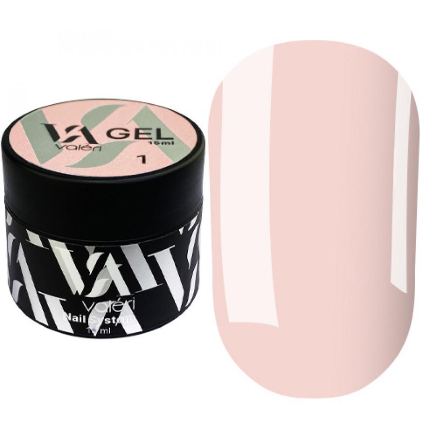 Гель для нарощування нігтів Valeri Builder Gel 001, 15 ml (Nude)