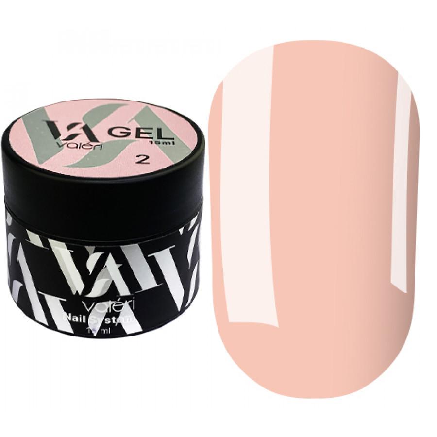 Гель для наращивания ногтей Valeri Builder Gel 002, 15 ml (Nude)