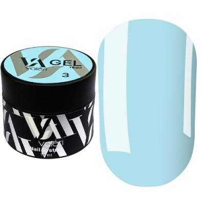 Гель для наращивания ногтей Valeri Builder Gel 003, 15 ml (Blue)