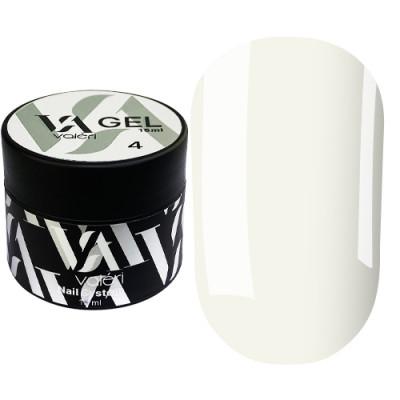 Гель для наращивания ногтей Valeri Builder Gel 004, 15 ml (Milk)