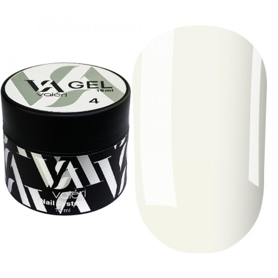 Гель для нарощування нігтів Valeri Builder Gel 004, 15 ml (Milk)
