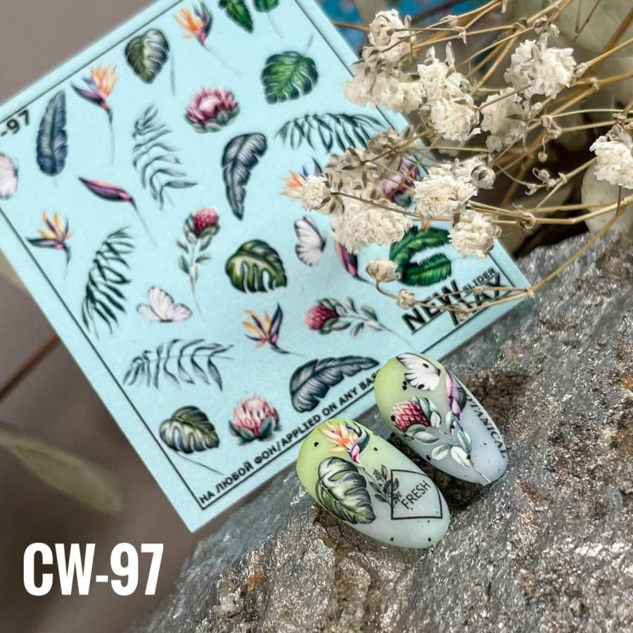 CW - 97 Слайдер-дизайн NEW MAX квіти, листя