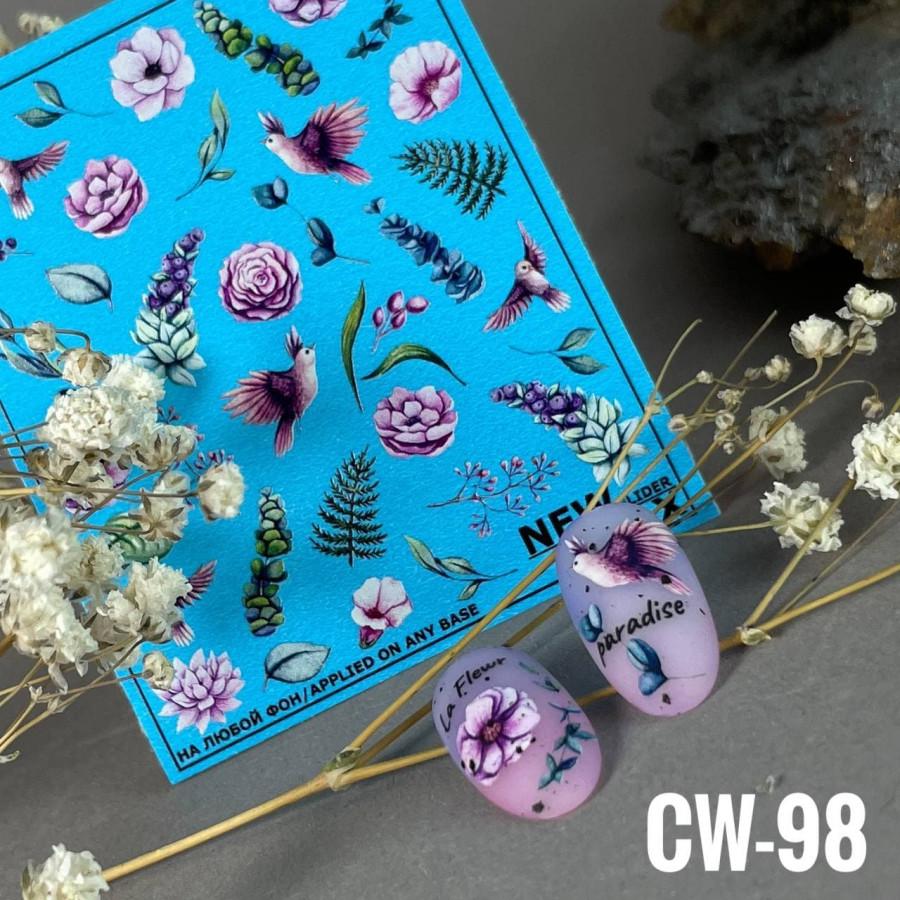 CW-98 Слайдер-дизайн NEW MAX цветы, листья