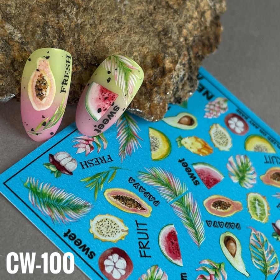 CW-100 Слайдер-дизайн NEW MAX фрукты, листья