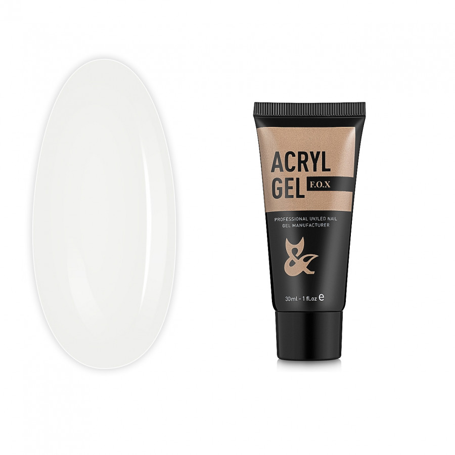 Акрилгель полигель білий FOX Acryl gel 014, 30 ml