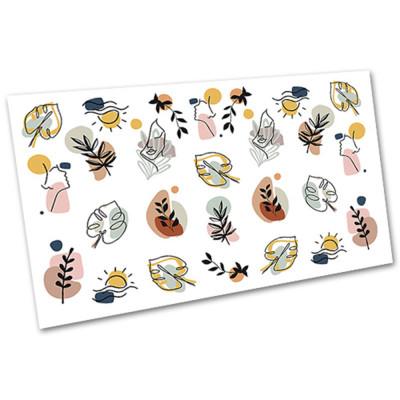 Слайдер-дизайн для ногтей 2100, абстракция, листья