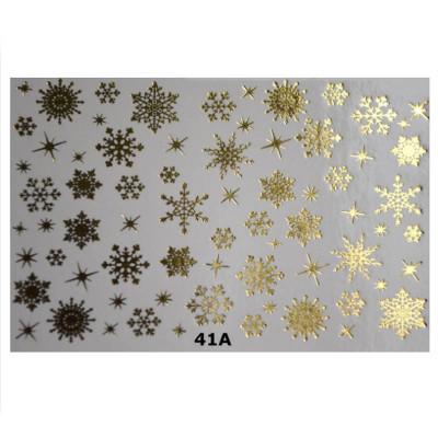 41A Слайдер-дизайн NEW MAX снежинки (золото)