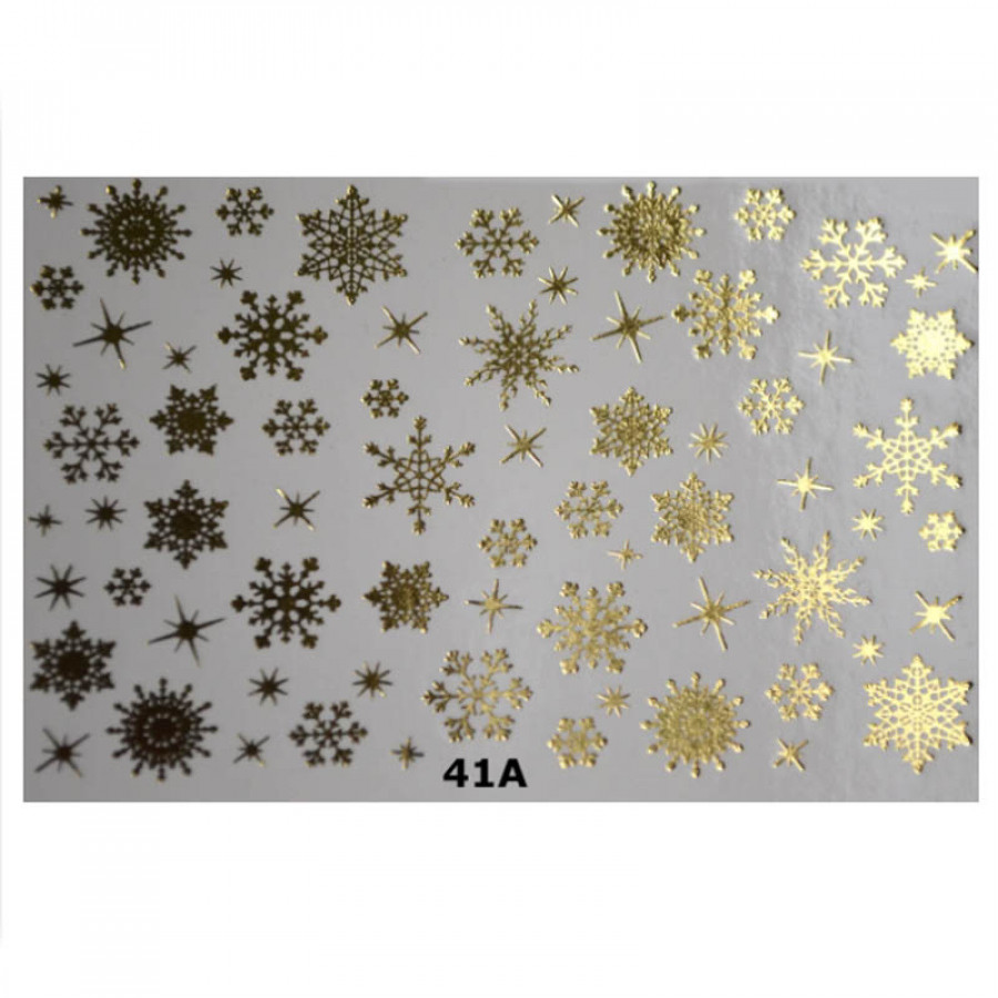 41a Слайдер-дизайн NEW MAX сніжинки (золото)