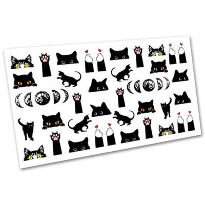 Слайдер-дизайн для ногтей 1530, коты
