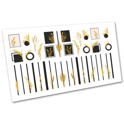 Слайдер-дизайн для нігтів 1100, геометрія, рослини