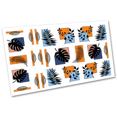 Слайдер-дизайн для ногтей 1551, листья