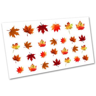 Слайдер-дизайн для ногтей 2234, листья, осень