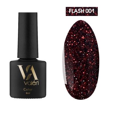 Светоотражающий гель-лак Valeri Flash №01, красный, 6 ml