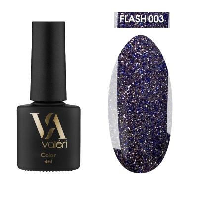Светоотражающий гель-лак Valeri Flash №03, сиреневый, 6 ml