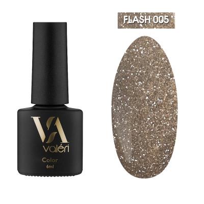 Светоотражающий гель-лак Valeri Flash №05, золотой, 6 ml
