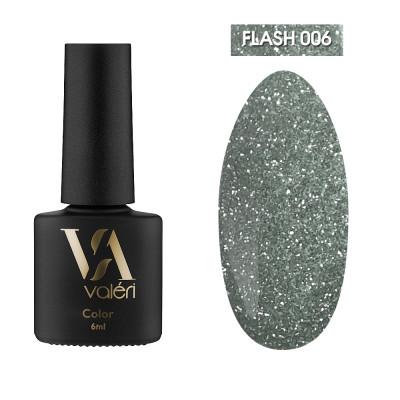 Светоотражающий гель-лак Valeri Flash №06, салатовый, 6 ml