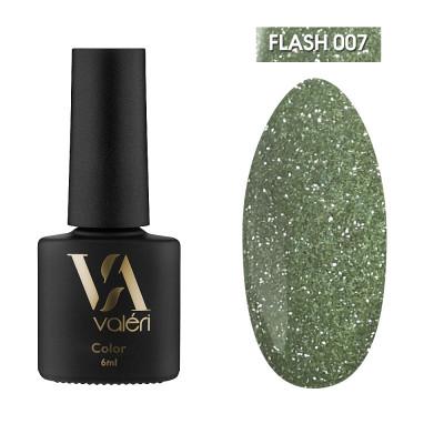 Светоотражающий гель-лак Valeri Flash №07, зеленый, 6 ml