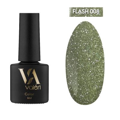 Светоотражающий гель-лак Valeri Flash №08, оливковый, 6 ml