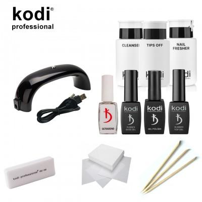 Стартовый набор для маникюра гель лаком Kodi SMART с LED лампой