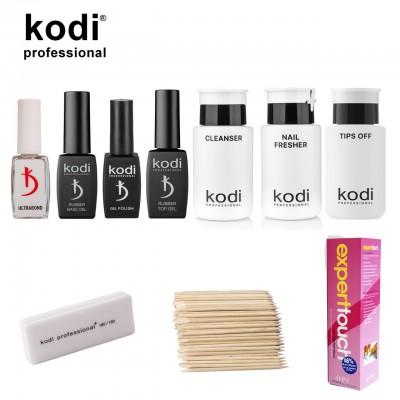 Стартовий набір для манікюру гель лаком Kodi PROF без лампи